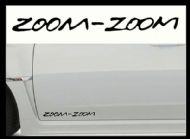 MAZDA ZOOM-ZOOM CAR BODY DECALS